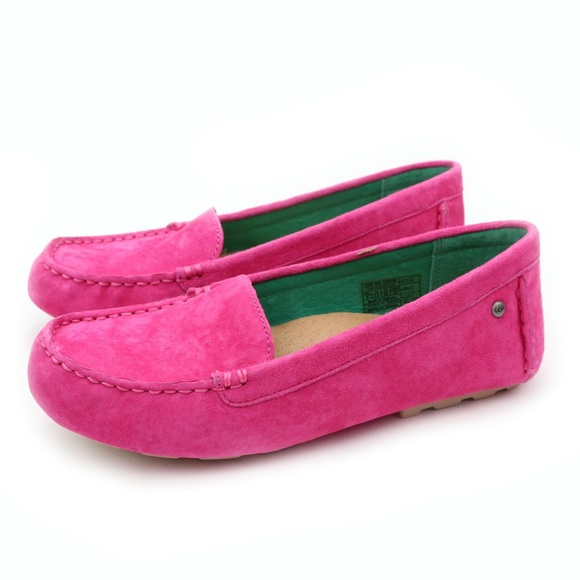 a2cc312d3ce UGG Milana Hot Pink Suede Driving Moccasins 🔥 Boutique